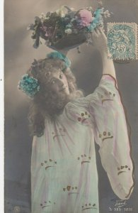 RP: Woman & Basket of Flowers , 1906