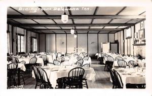 Canada Postcard RPPC Ontario 1949 HONEY HARBOR Delewana Inn DINING Interior 12
