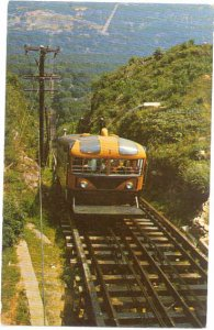 Lookout Mountain Incline Car near the Top of Lookout Mountain TN, 1964 Chrome
