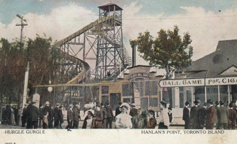 TORONTO ISLAND, Ontario, 1906 ; Hurgle Gurgle , Hanlan's Point Amusement Park
