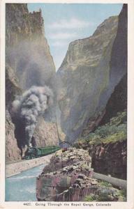 Denver and Rio Grande Train - going through the Royal Gorge CO, Colorado - WB