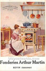 Advertising Postcard - Old Vintage Antique Donderies Arthur Martin Revin Trad...