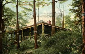MA - Malden. Pine Bank Park, Log Cabin