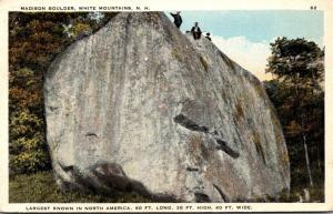 New Hampshire White Mountains Madison Boulder Largest Known In North America