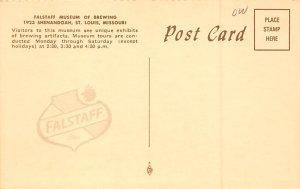 Beer Brewery / Distillery Post Card Falstaff Museum St Louis, Missouri, USA U...