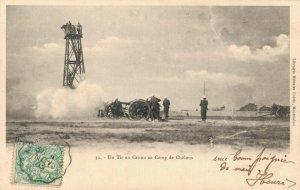 Military Un Tir au Canon au Camp de Chalons World War 1 04.81