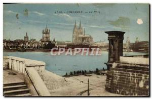 Old Postcard Cologne The Rhine