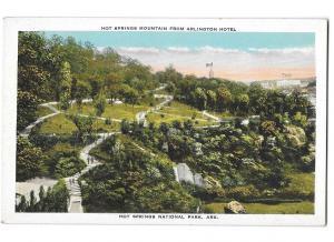 Hot Springs Mountain as Viewed from Arlington Hotel Arkansas