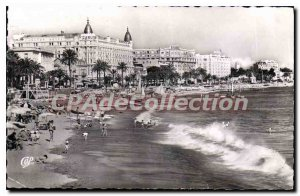 Postcard Old Cannes Croisette and beach
