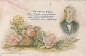 Oliver Wendell Holmes With Beautiful Roses Signed Cobb Shinn