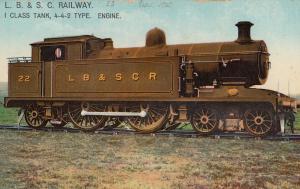 LB & SC Railway No 22 Train Old Postcard