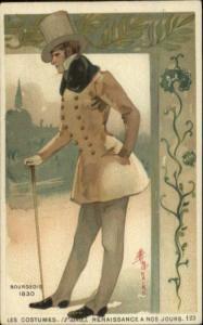 Monaire Renaissance Costume Smaller Size c1890s Postcard BOURGEOIS 1830
