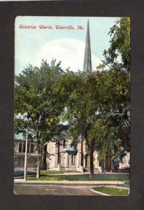 Me Vintage Unitarian Church Waterville Maine Postcard Carte Postale