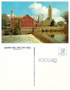 Slater Mill and City Hall, Pawtucket, Rhode Island (8713)