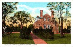 Virginia Wakefield The Birthplace Of George Washington Curteich