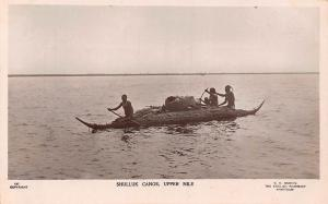 Sudan, Upper Nile, Shilluk Canoe, Shulluk real photo