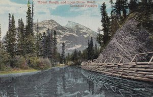 BANFF, Alberta, Canada, 1900-1910s; Mount Rundle And Loop Drive, Canadian Roc...