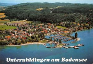 Unterhuldingen am Bodensee Harbour Boats Air view Port Postcard