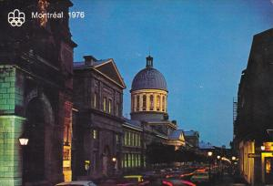 Canada Night View Bonsecours Market Building St Paul Street Quebec