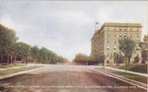 Missouri Kansas City Linwood Boulevard Looking East From The Elesmere Hotel 1908