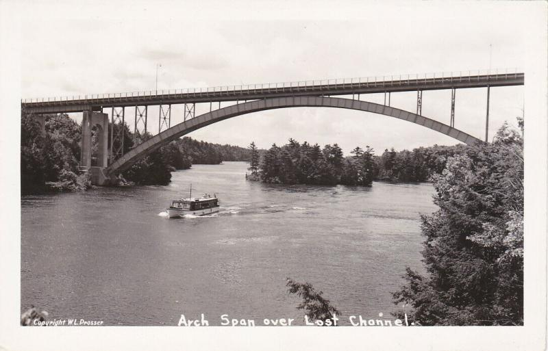 RP: 1000 ISLANDS , Ontario , 30-40s ; Arch Span over Lost Channel