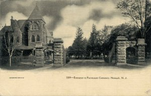 USA Entrance to Fairmount Cemetery Newark New Jersey 03.30