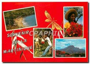 Postcard Modern fishermen village water decoco Mountain Pelee Children at bla...