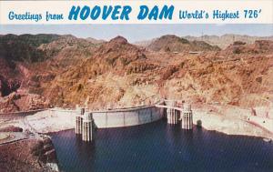Greetings From Hoover Dam World's Highest 726 Feet