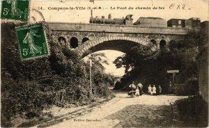 CPA COMPANS-la-VILLE - Le Pont du chemin de fer (292915)