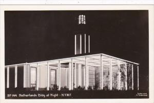 New York World's Fair Netherlands Building At Night Real Photo