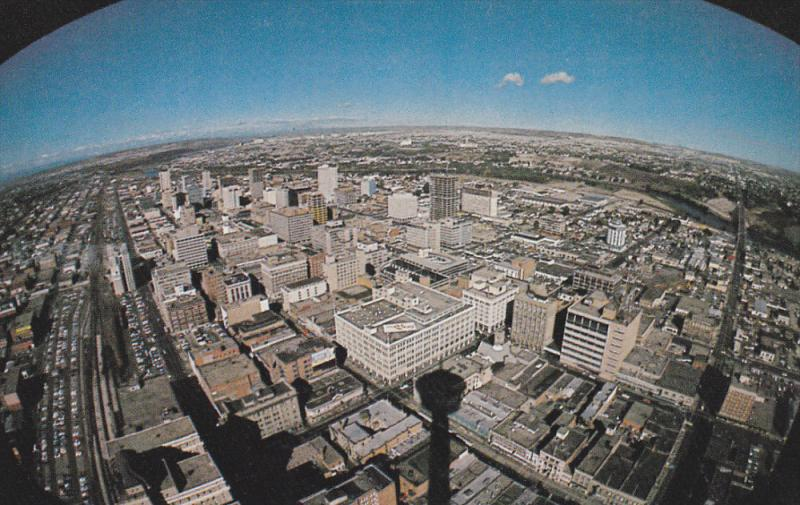 Panarama view of Skyline , CALGARY , Alberta , Canada , 50-60s