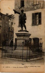 CPA CORSE Corte- Statue du Général Gaffory. (711523)