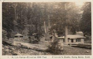 RP: YOSEMITE , California , 1926 ; Kelly's Camp