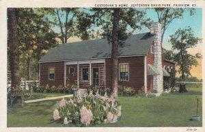 FAIRVIEW, Kentucky, 1900-1910's; Custodian's Home, Jefferson Davis Park