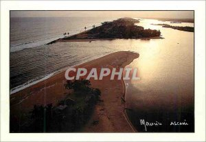 Modern Postcard Republic of Ivory Coast Aerial View of Grand Lahou Camp Lahou...
