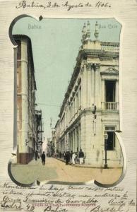 brazil, SALVADOR DE BAHIA, Rua Chile (1906) Stamp