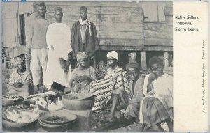 55302  -  VINTAGE  POSTCARD : ETHNIC / Petit Mettiers - SIERRA LEONE : Freetown
