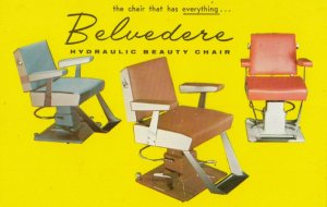 ADV: BELVEDERE Hydraulic Beauty Chairs , 1950-60s