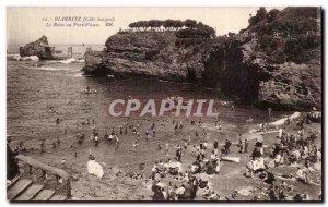 Old Postcard Biarritz bath Old Port