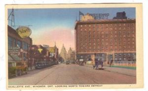 Ouellette Avenue, Looking North Toward Detroit, Prince Edward Hotel, Windsor,...