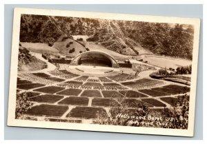 Vintage 1938 RPPC Postcard Early Hollywood Bowl California