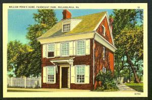 Fairmount Park William Penn Home Phila PA 1930s