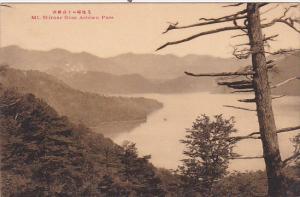 MT. SHIRANE From Ashiwo Pass, Japan, 1900-1910s