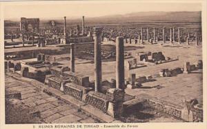 Algeria Ruines Romaines de Timgad Ensemble du Forum