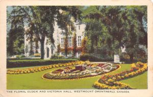 Canada Montreal, The Floral Clock and Victoria Hall, Westmount 1946