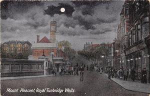 ROYAL TUNBRIDGE WELLS KENT UK MOUNT PLEASANT NIGHT VIEW POSTCARD 1910s