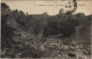CPA CROZANT. Les Ruines et la Sedelle (121784)