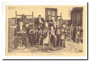 Institution for Blind Youth Nancy IJAN 8 street Santifontaine Old Postcard Wo...