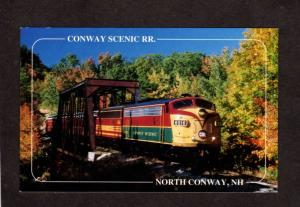 NH North Conway Railroad Train Intervale New Hampshire Crawford Notch Postcard