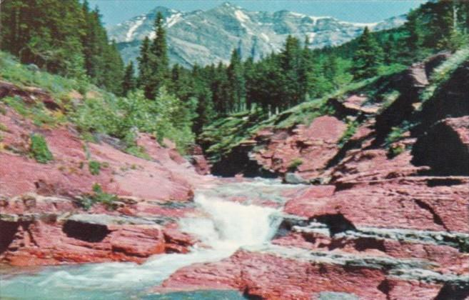 Canada Red Rock Canyon In Waterton Lakes National Park Alberta